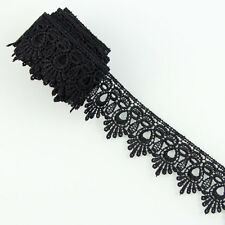 3 Yards Black Fabric Polyester Applique Venise Lace Trims  DIY Sewing Crafts