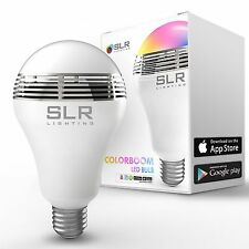 LED RGB Color Bulb Light E27 Bluetooth Control Smart Music Audio Speaker La