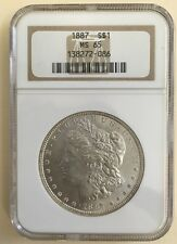 1887 US Morgan Silver One Dollar $1 - NGC MS65