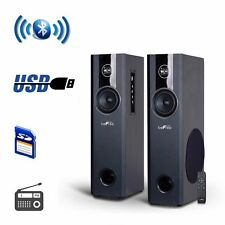 beFree Sound 2.1 Channel Bluetooth Tower Speaker System USB/SD/FM Optical i