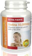 Biotina 10,000mcg | 120 Comprimidos(E584) Simply Supplements