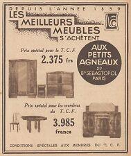 Z9261 Meubles Aux Petits Agneaux -  Pubblicità d'epoca - 1932 Old advertising