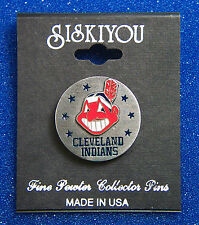 Cleveland Indians MLB Pewter Hat Pin Tie Tack Lapel Pin Round