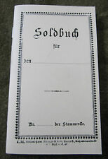 WWI IMPERIAL GERMAN AUSTRIA INFANTRY PAPERS SOLBUCH
