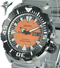 New Seiko Superior Duo Monstruo Con Brazalete De Acero Inoxidable srp315j2 srp315