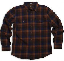 MATIX Ridgeport Flannel Shirt (S) Brown