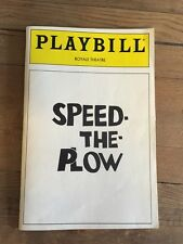 Madonna Speed The Plow Playbill Royal Theatre London 1988 Mantegna