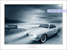 VW Volkswagen Camper Van & Karmann Ghia  Ltd Edition Art Print Picture