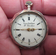 Goedertier St Nicolas Small Pocket/Fob Watch- 800 Silver Case -For Spares/Repair