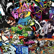 HUGE Graffiti Street Art Sticker Bomb sheet Euro  Vinyl Decal vw honda Dub retro