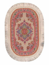1:12 Scale Oval Woven Pink Turkish Rug Dolls House Carpet Mat Accessory 648P