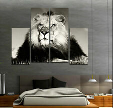 Hand-Painted Modern Abstract Wall Art Oil Painting On Canvas,Lion(No Frame)