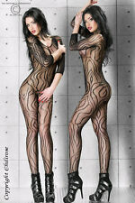 INTIMO SEXY bodystocking Catsuit in rete nera tg.38/44