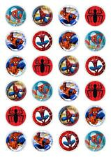 24 Spider Man Cupcake Fairy Cake Toppers Edible  Decorations