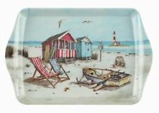 Macneil Sandy Bay Small Melamine Snack Crumb Tray Seaside Theme Beach Design