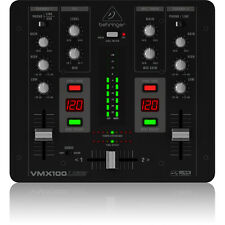 Behringer VMX100USB 2-Channel DJ USB Interface 2-Band EQ Turntable Mixer