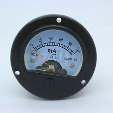 2pcs 52mm Round Moving coil Panel Meter Dc100Ma for 300B,2A3,211,Kt88,6550,El 34