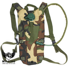 DPM Hydration Backpack +2.5L Water Bladder/Woodland Camo Camelbak type Rucksack