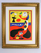 HIGH VALUE Joan MIRO Original 1938 SIGNED Color Lithograph SUMMER Framed COA