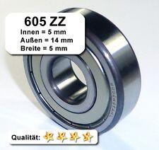 Kugellager 5*14*5mm Da=14mm Di=5mm Breite=5mm 605ZZ Radiallager