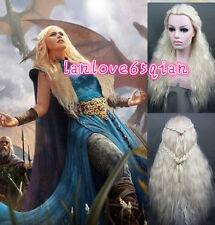 Daenerys Targaryen Dragon Princess Game of Thrones Braids Costume Cosplay Wig