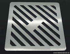 225mm 22cm acciaio inox quadrato in metallo Heavy Duty copertura scarico per cantine Griglia Griglia