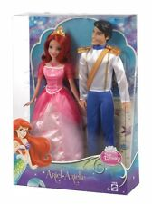 "Mattel Disney Princess ERIC & ARIEL Twin/2 10"" Dolls The Little Mermaid set TATY"