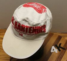 "VINTAGE MILLER HIGH LIFE BEER ""UGLY BARTENDER CONTEST"" PAINTERS CAP HAT FOR MS"