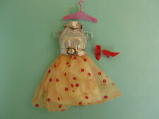vintage Barbie Doll  Red Lame Glo Go Outfit  #1865 Mattel /Japan/ Excellent