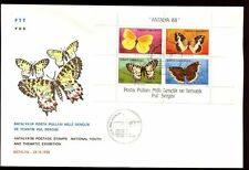 Turkey 1988 Butterflies M/S FDC #C8321