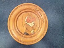 Vintage French Snow White & the Seven Dwarfs 8' Wood Plaque-