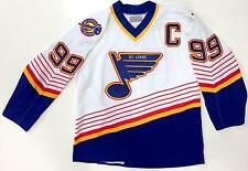 WAYNE GRETZKY ST LOUIS BLUES CCM AUTHENTIC ON ICE WHITE JERSEY SIZE 48