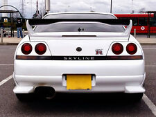 For Nissan Skyline R33 GTR AS Style Shibi Devil Carbon Fiber Spoiler Wing Blade