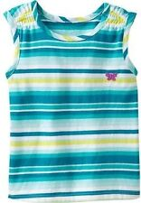 SFK Old Navy Smocked Shoulder Tanks Cool stripe