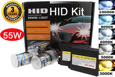 Xenon 55W H4 9003 10K 10000K Blue HID HiLo Dual Beam Head Light Slim Kit #R