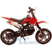FREE SHIPPING KIDS 49CC 2 STROKE GAS MOTOR DIRT MINI POCKET BIKE RED P DB50X