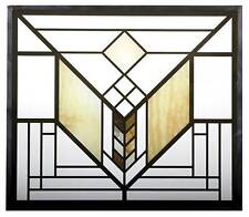 FRANK LLOYD WRIGHT LAKE GENEVA HOTEL TULIP STAINED ART GLASS PANEL DISPLAY