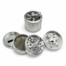 NEW 5 Pieces Hand Crank Herb Spice Tobacco Med Grinder Silver