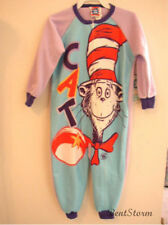 Dr Seuss Cat in the Hat Long Sleeve Soft Zip Up PURPLE 1PC Pajamas girls 3T NWT