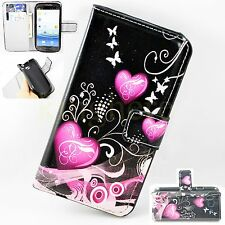 Lovely Heart Leather Flip Wallet Cover Soft Case For Samsung Galaxy S3 III i9300