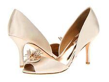 NIB Badgley Mischka Clarissa D'orsay open toe pump heel sandals shoes 10 Ivory