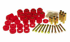 Prothane 87-96 Jeep Wrangler 1-inch Lift Body Mount Bushing Kit Red Polyurethane