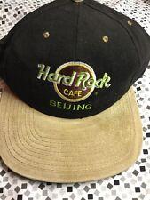 Hard Rock Cafe Beijing Love All Serve All Snapback Black Tan Hat Adult