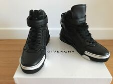 Givenchy Black Leather High-tops Tyson Sneakers with White details, Size 43