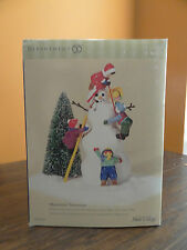 Dept 56 55159 Mainstreet Kid building Snowman Christmas Snow Village Accessory