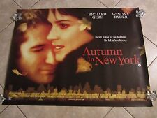 AUTUMN IN NEW YORK movie poster RICHARD GERE poster, WINONA RYDER poster