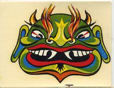 vtg impko water decal Monte tiki buddha face mask monster hot rod drag race