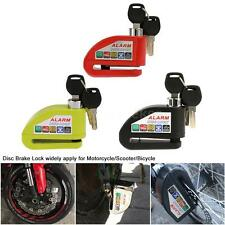 Motorcycle Scooter Bicycle Security Anti-theft Disc Brake Lock Alarm 3 Keys O2I7