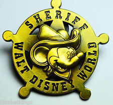 DISNEY TRADING PIN MICKEY MOUSE SHERIFF WALT DISNEY WORLD BRONZE BADGE VERY NICE