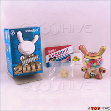 Kidrobot Dunny 2011 figure Gold Bubblegum Machine by Mr. Frames MisterFrame$ box